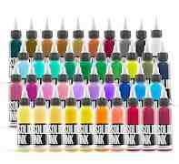 Набор пигментов красок для татуировок. solid INK