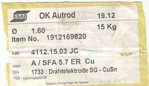 Сварочная проволока OK Autrod 19.12 esab